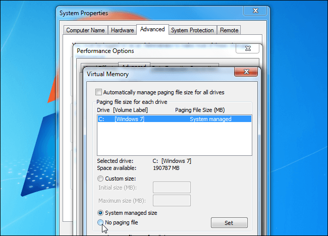 Myths configure windows