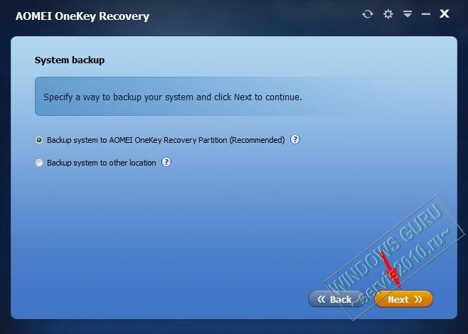 AOMEI OneKey Recovery 13