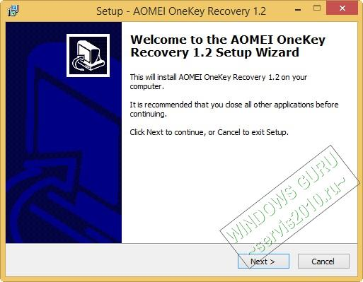 AOMEI OneKey Recovery 3