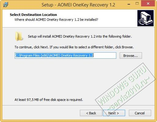 AOMEI OneKey Recovery 5