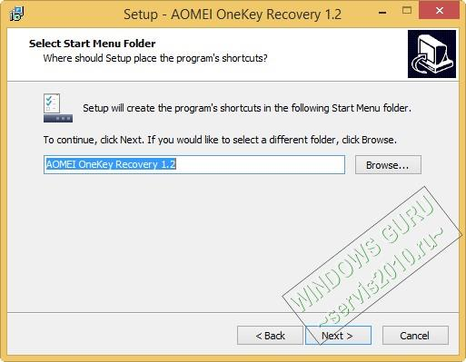 AOMEI OneKey Recovery 6